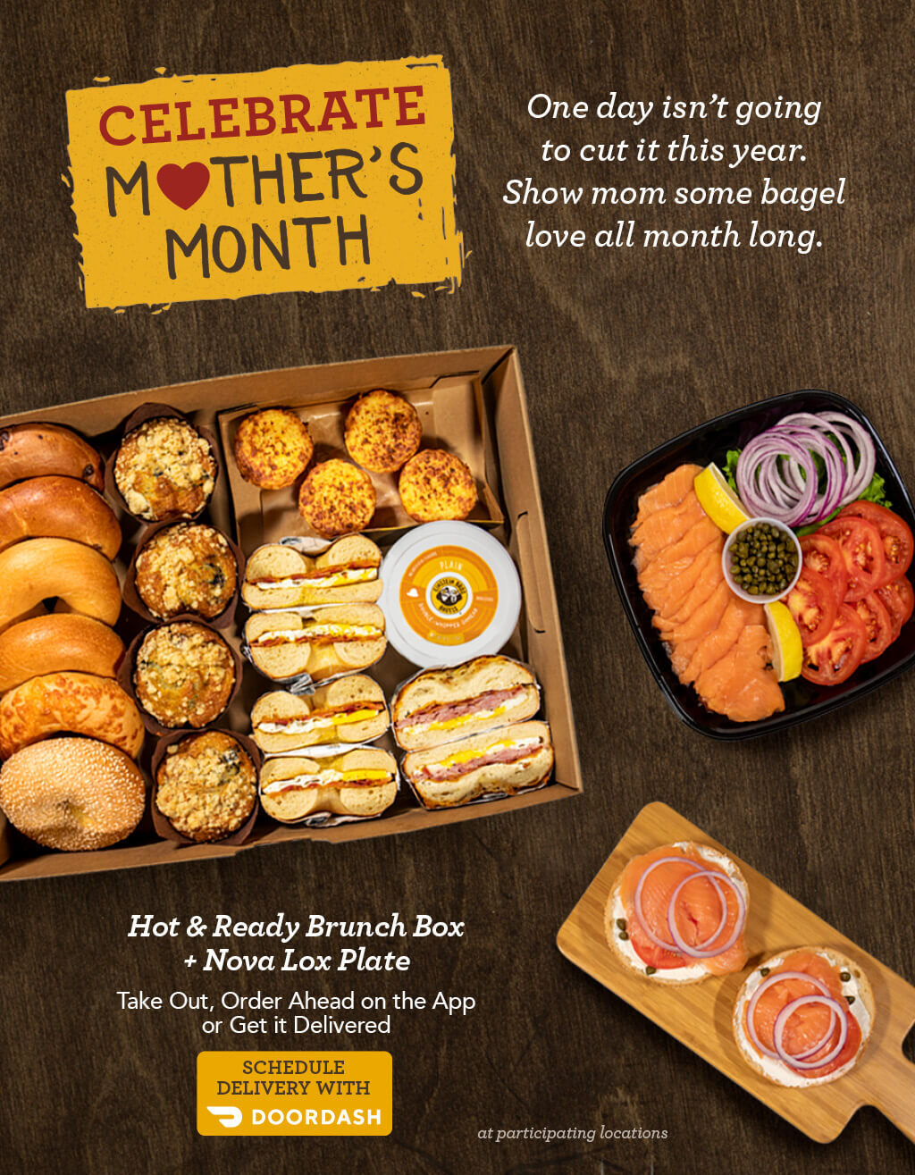 ROTATING SLIDER: Happy Mother's Month!!! CLICK to order a Brunch Box or Baker's Dozen Box for Delivery through DoorDash, for your Mom or Grandmother