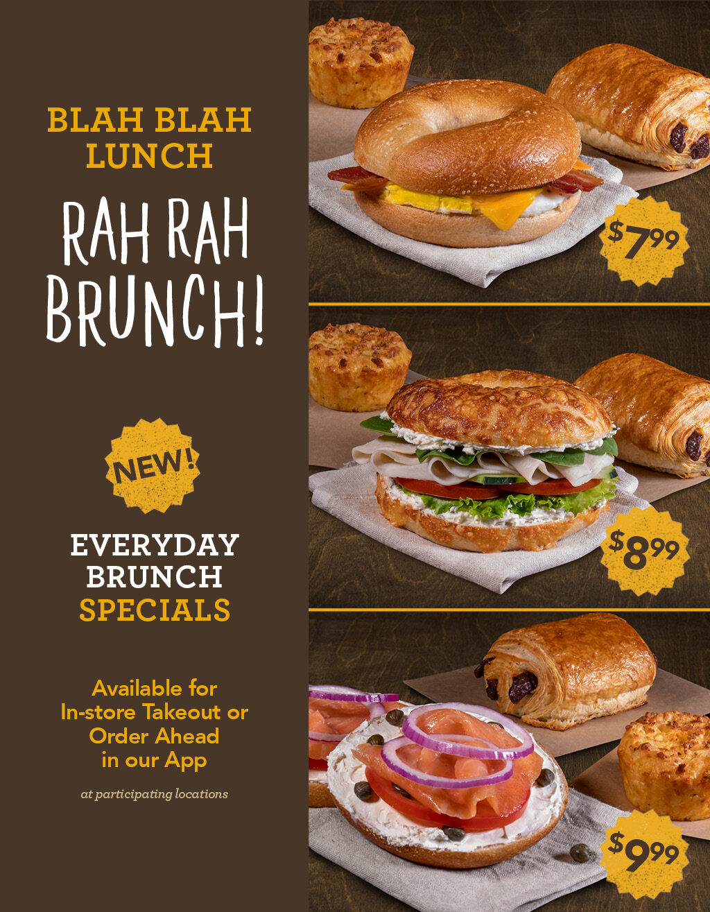 ROTATING SLIDER: Try our new Brunch Meal Deals available in our App, In-Store or Delivery Through DoorDash