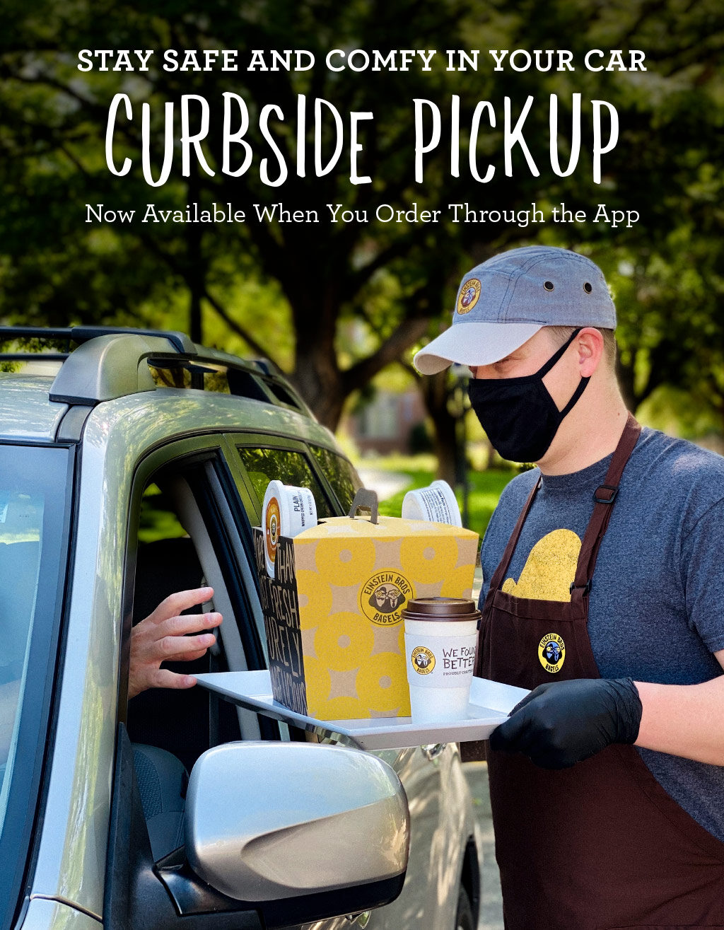 ROTATING SLIDER: Curbside Pickup available when you order through the app.