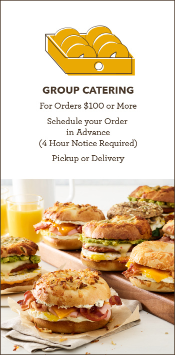 Group Catering for Orders $100 of More Schedule your order at least 4 hours in advance pickup or delivery