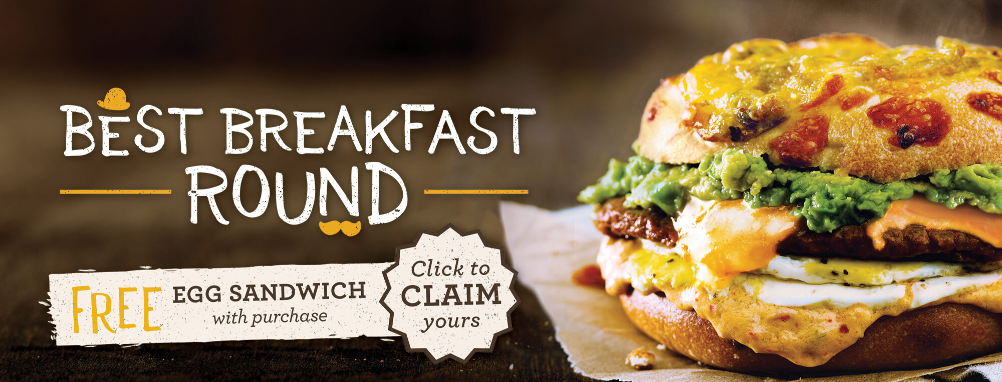 ROTATING SLIDER: Click here to get a FREE Egg Sandwich when you claim the reward. Open to new and current Shmear Society Members.