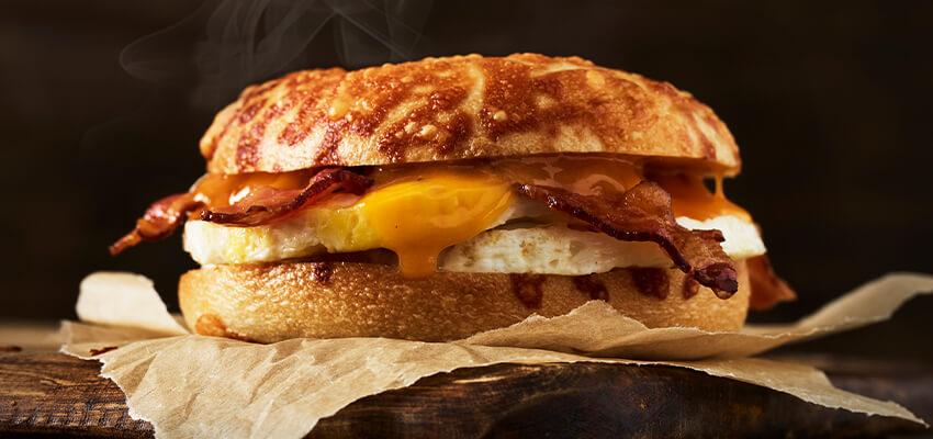 Bacon, Egg & Cheddar Egg Sandwich