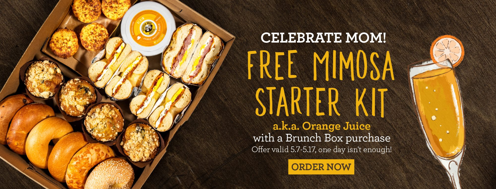 Free Mimosa Starter Kit with Brunch Box Purchase for Mother's Day