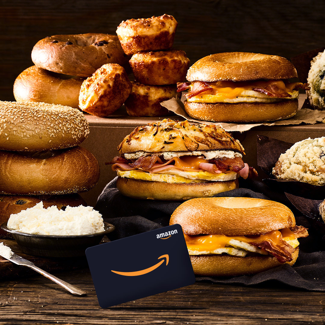 Treat your team, treat yourself – get an Amazon gift card when you order Einstein Bros. Bagels catering